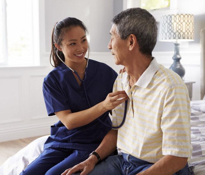 a nurse doing a check up